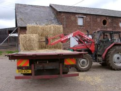 "Chris' unloading ""Big Bales"""