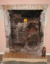 fireplace after removal