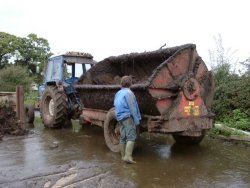 Muck Spreader kindly lent by Moreton Contractors