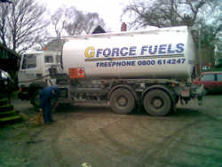 Fill her up.... Delivery of diesel fuel for the tractors